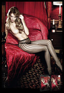 Jacquard Pantyhose Black (disc)
