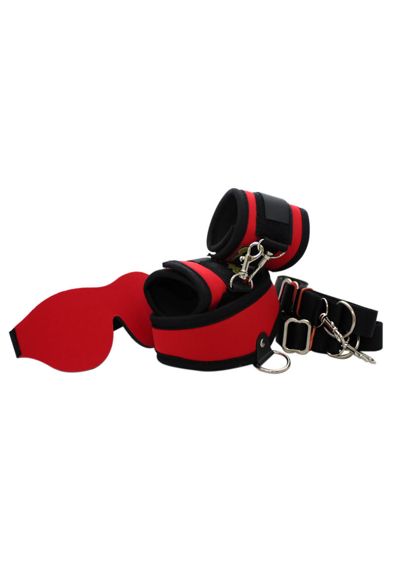 Whip Smart Explore Bondage Kit Fire Red