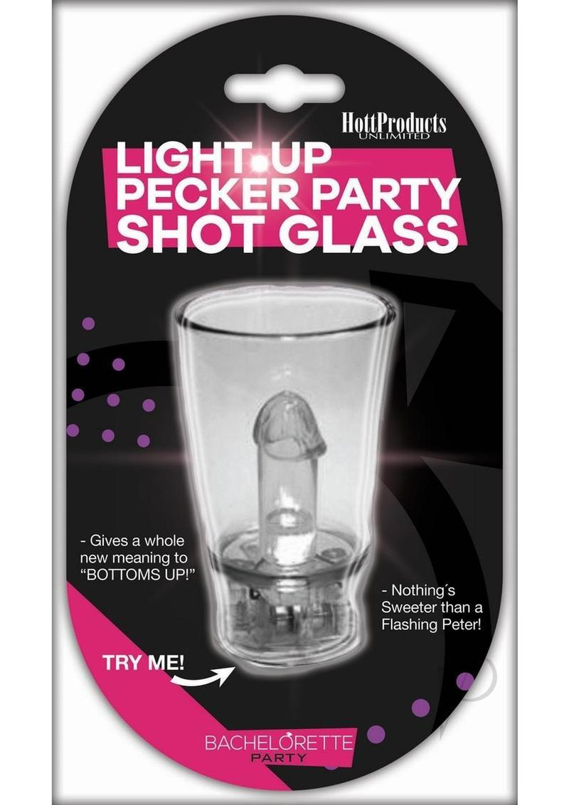 Light Up Pecker Party Shot Glass With Hang String Clear