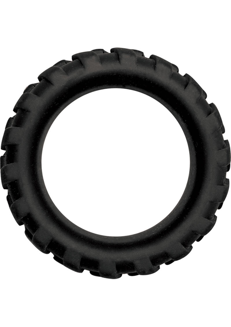 Mack Tuff X Large Tire Silicone Cock Ring Waterproof Black 1.65 Inch Diameter