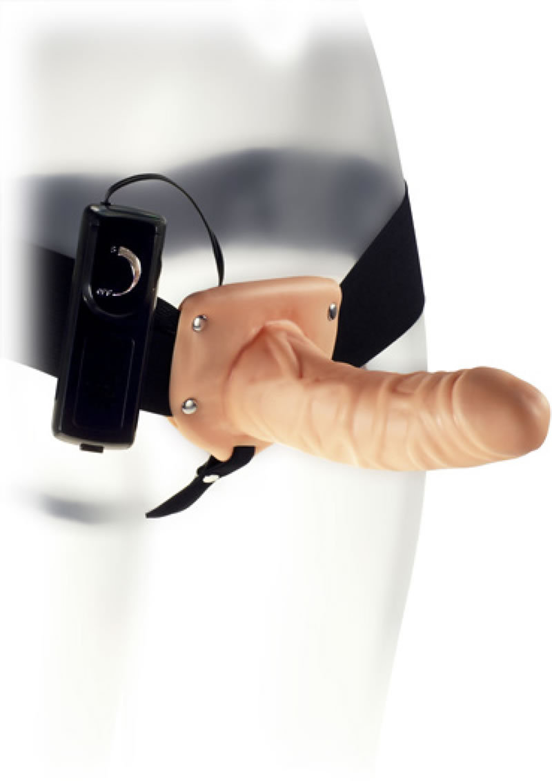 Kinx Penetrator Vibrating Strap-on Flesh 6 Inch