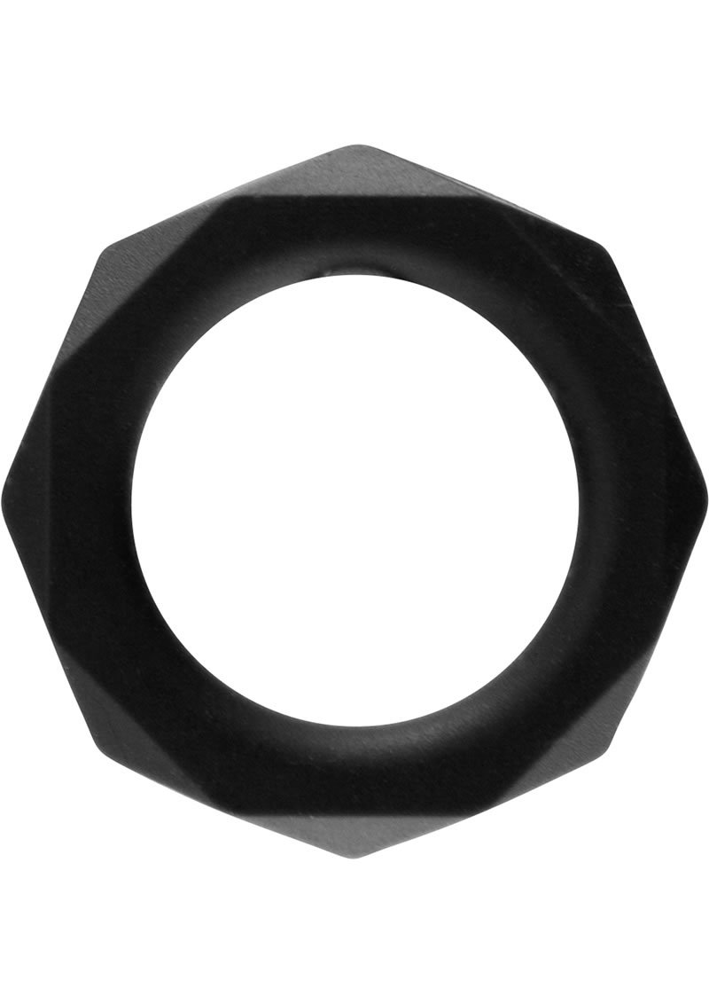 Rock Rings Cocktagon L Silicone Cockring Black