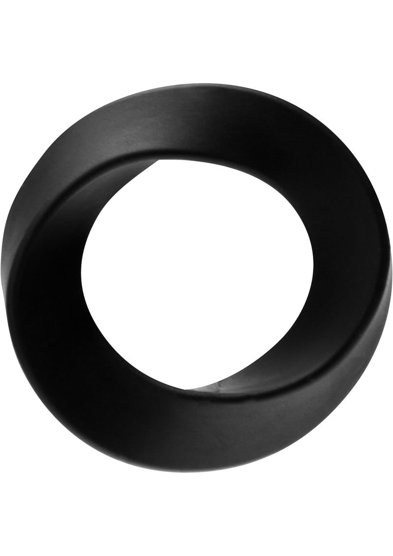 Rock Rings The Hellfire Silicone Cockring Black Large