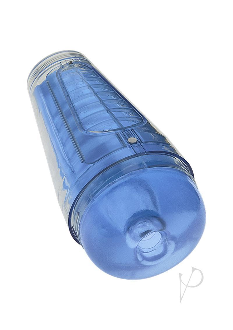 Main Squeeze Optix Variable Pressure Ultraskyn Stroker Textured Crystal Blue